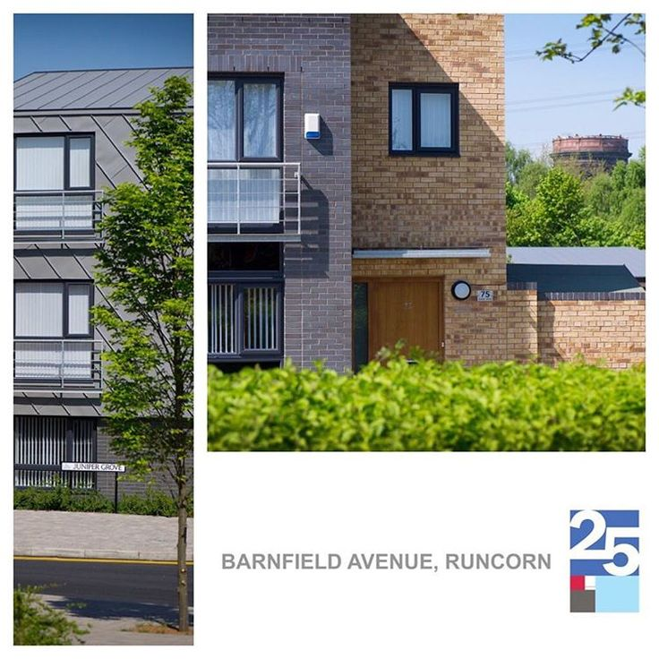 JMA #ThrowbackThursday Barnfield Avenue. #Housing in #Runcorn. Buff and blue brick and zinc cladding. Landscaping and public realm