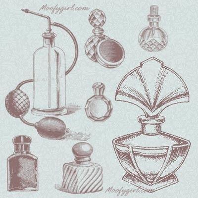 Perfume Bottles Photoshop Brushes Brush Set by moofygirl on Etsy, $2.99