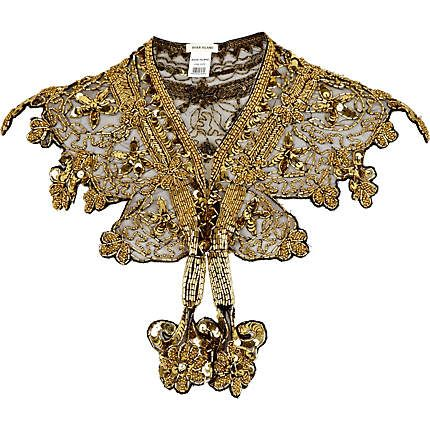 Gold luxury embellished collar - necklaces / collars - jewellery - women