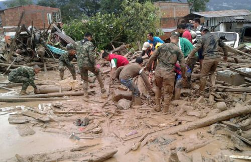 Over 100 killed in Colombia landslideA landslide in...  Over 100 killed in Colombia landslide  A landslide in Colombias southwestern border province of Putumayo sent mud and debris crashing onto houses overnight killing 112 people and injuring at least 120 officials said on Saturday.  Heavy rains caused several rivers to overflow pushing sediment onto buildings and roads in the provincial capital of Mocoa. It has just been reported to me that we have 112 people dead President Juan Manuel…