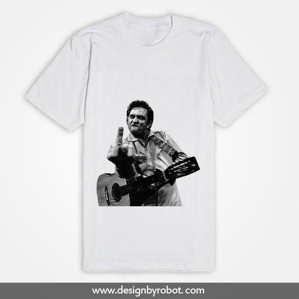 Johnny Cash Middle Finger T Shirt