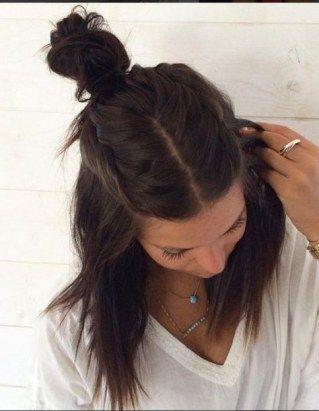 Frisuren mit Mittelscheitel: Flechtkunst