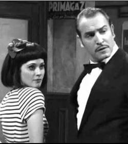 jean dujardin and zooey deschanel.  together on SNL.  yes.