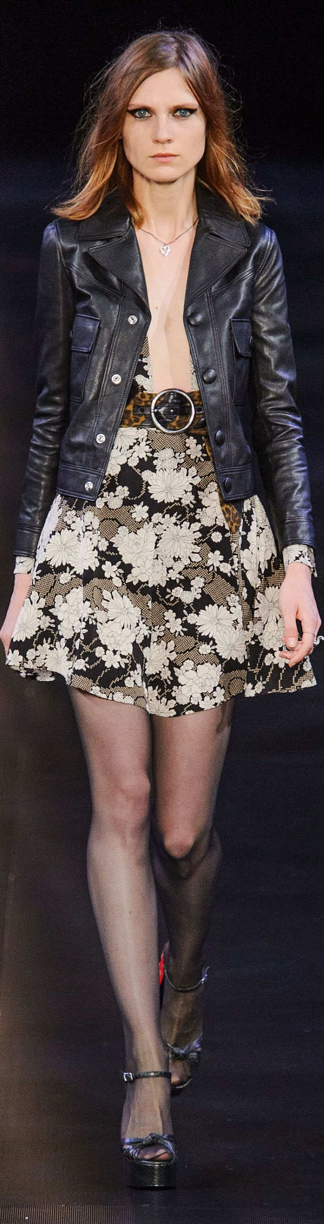 Saint Laurent Collection Spring 2015. Sweet Jesus I need a leather jacket exactly like this