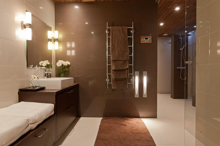 Ruskea kylpyhuone