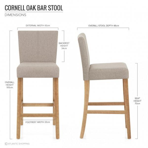 Tabouret de Bar Tissu Bois - Cornell