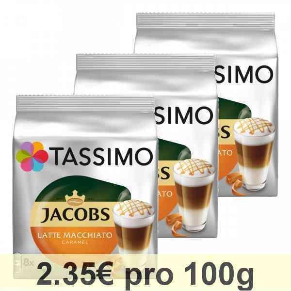Tassimo Jacobs Latte Macchiato Caramel Kaffee Milchkaffee Kapsel 48 T-Discs