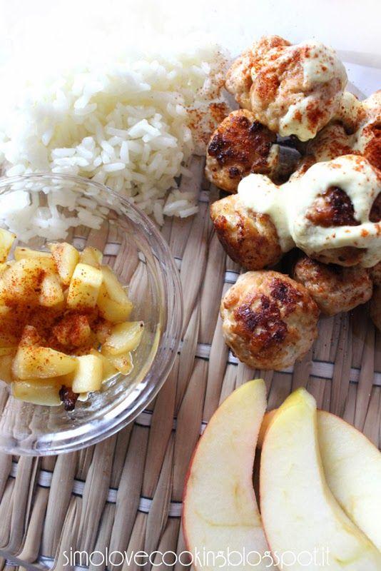Polpette di pollo alle mele con salsa alla senape e paprika   Ricetta ed ingredienti dei Foodblogger italiani