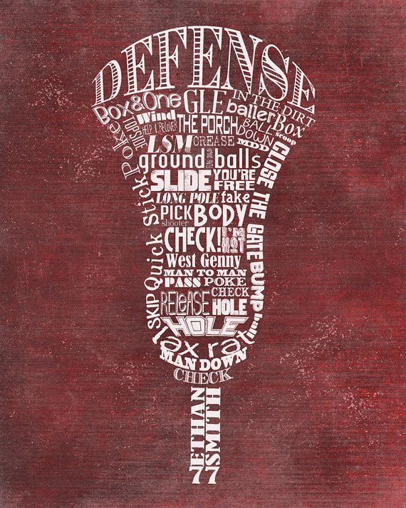 Personalized Lacrosse Stick Word Art-Every by ShaunaSmithDesigns
