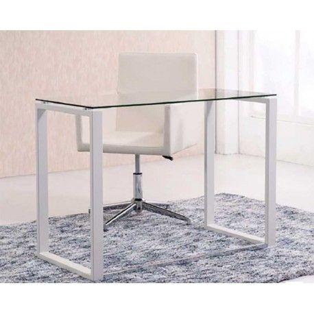 Con bonito y elegante diseño esta Mesa de Escritorio está disponible con estructura blanca o estructura cromada según tus gustos, elijas la que elijas quedará perfecta en tu despacho u oficina.