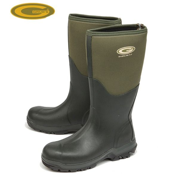 Grubs Riverline 5.0 Wellington Boots in Moss Green retain heat and repel water.
