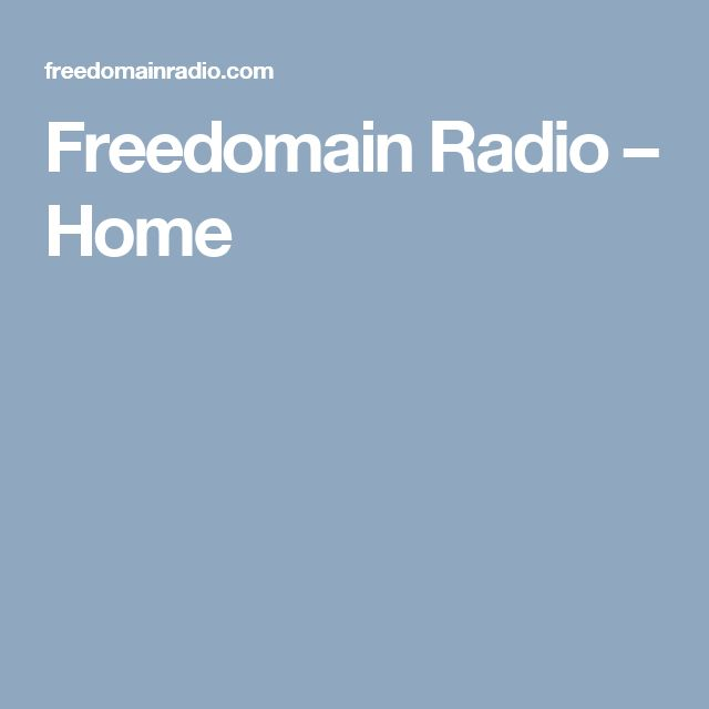 Freedomain Radio – Home