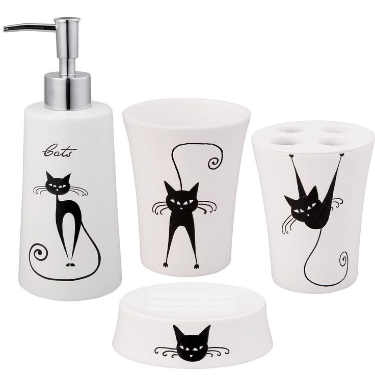 jovi home cats bath accessory 4 piece set overstock shopping the best