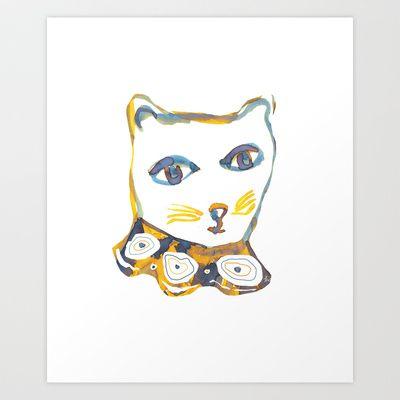 Feeling cat sometimes Art Print by Zsófi Porkoláb -