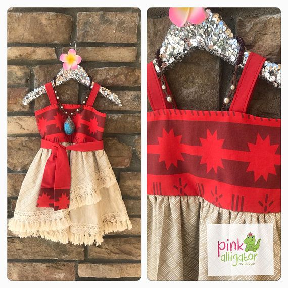 NOVEMBER delivery Moana dress for birthday parks party
