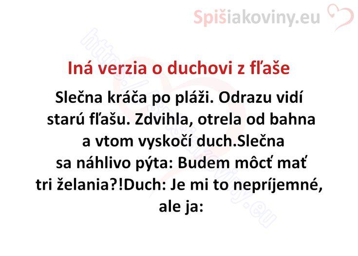 Iná verzia o duchovi z fľaše - Spišiakoviny.eu
