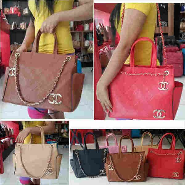 C**nel Shasa super sz.33x15x27 bh. kulit. IDR 240K. colors: apricot, red, pink, black, brown, cp Risa - 089608608277