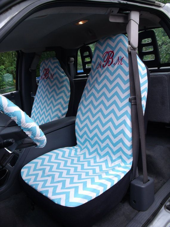 reserve for antonia brewer 1 set of girly blue chevron print seat cover and steering wheel cover. Black Bedroom Furniture Sets. Home Design Ideas
