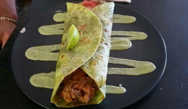 Vegan burrito with avocado sauce - Bambi's Kitchen, City
