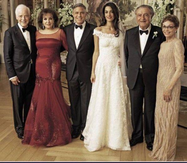Amal Alamuddin and George Clooney Wedding Dress PhotosThe Style Tribune