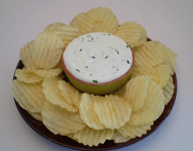 The Best Chip Dip!  No.... Really! from Food.com:   This is honestly a great and simple chip dip recipe that I got from a friend years ago, though I have made a couple little changes of my own.  It is always a hit at get togethers.  You'll never want store bought dip again!