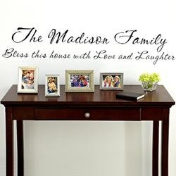Personalized Family Vinyl Wall Art - 11 x 55  $24.99