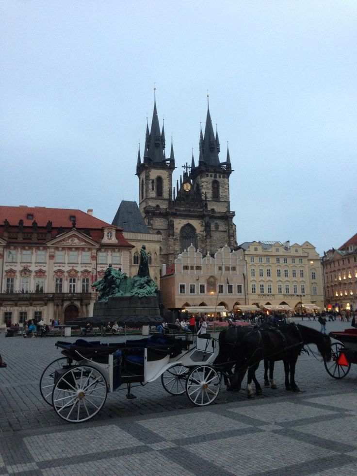 The central plaza in Prague is a popular tourist destination.  And well worth it.