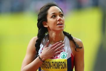 Katarina Johnson-Thompson in the pentathlon at the European Indoor Championships (Getty Images)
