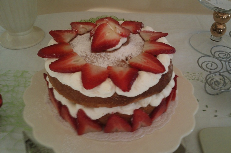 Strawberry and mascarpone Victoria sandwich