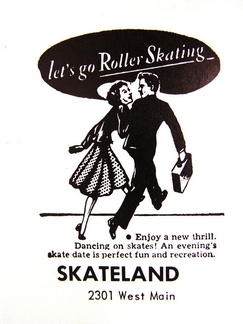 Skateland ad 1959   Ad from Academy of Notre Dame yearbook, 1959   Belleville, IL