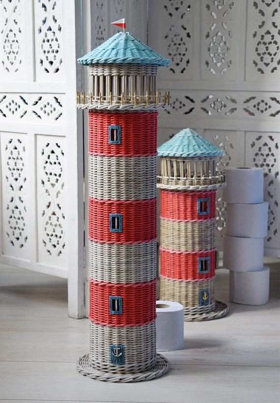 Storage Toilet paper Lighthouse figurines Funny toilet paper