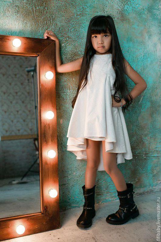 Elegant gress for girl / Одежда для девочек, ручной работы. Нарядное детское платье из жаккарда. Детская одежда FIFI.BABY. Ярмарка Мастеров. Праздничное платье