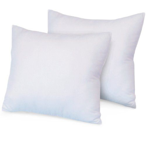 Ultrasoft Euro Square Decorative Sham Pillow White : Nature s Rest Luxurious 28-by-28 Inch Euro Square Pillows, 2-Pack Decorative Pillows ...