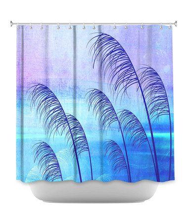 Loving this Iris Lehnhardt Tropical Shower Curtain on #zulily! #zulilyfinds