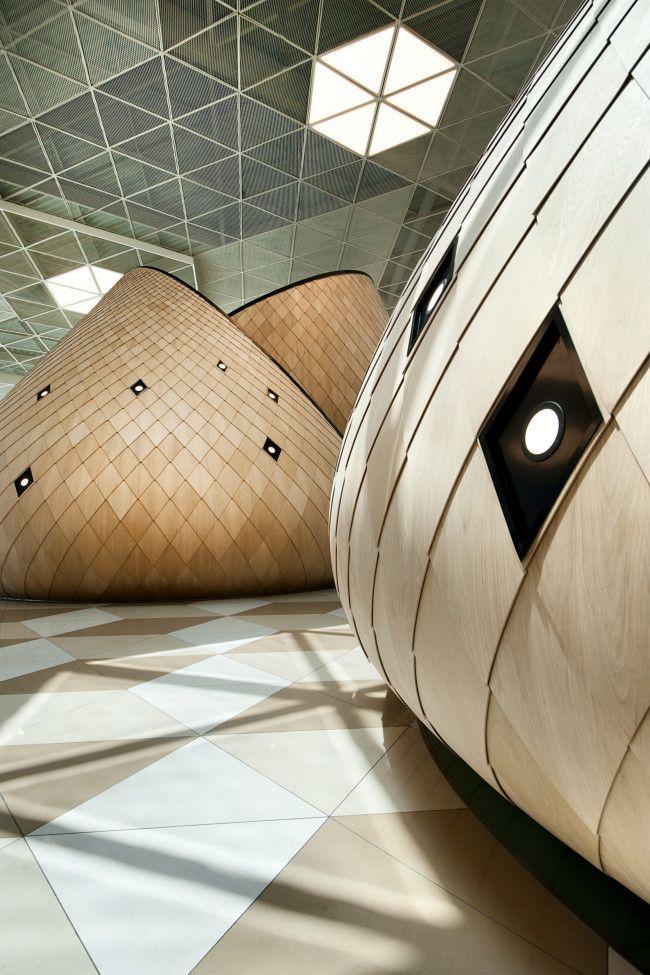 Autoban designs wooden cocoons for Azerbaijan's Heydar Aliyev airport gallery - Vogue Living