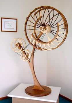 Kinetic Sculpture by David C. Roy - All Sculptures | Wood That Works | Kinetic Art - Jamboree