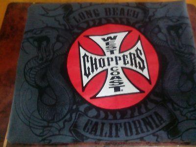 West Coast Choppers adult XL Gray T-Shirt double sided Long Beach California