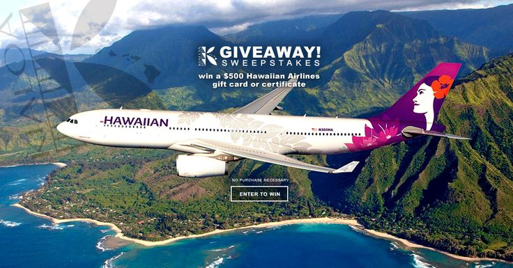 Win a $500 Hawaiian Airlines gift card or certificate to use on your upcoming travels now at KIALOA.