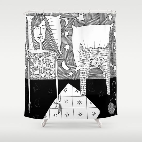 We sleep together Shower Curtain