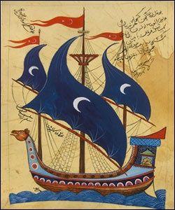 Ottoman galleon Türk El Sanatları Minyatür El Sanatı
