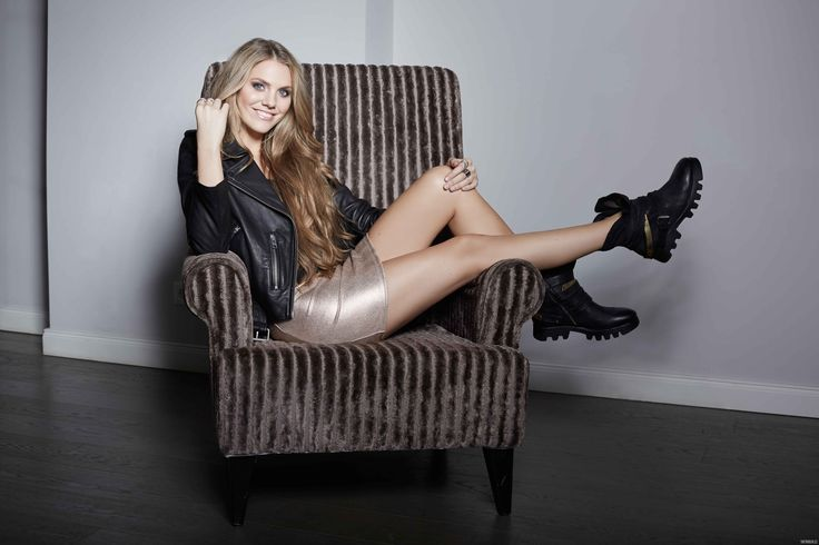 Viviane Geppert miniskirt legs leggy