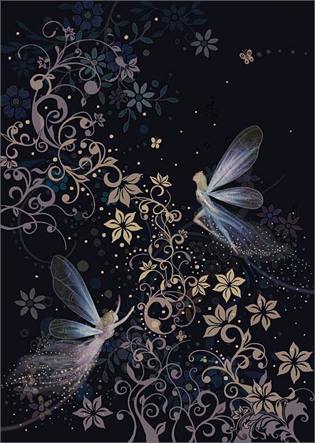 Fairyland by Jane Crowther. Bug Art greeting cards.