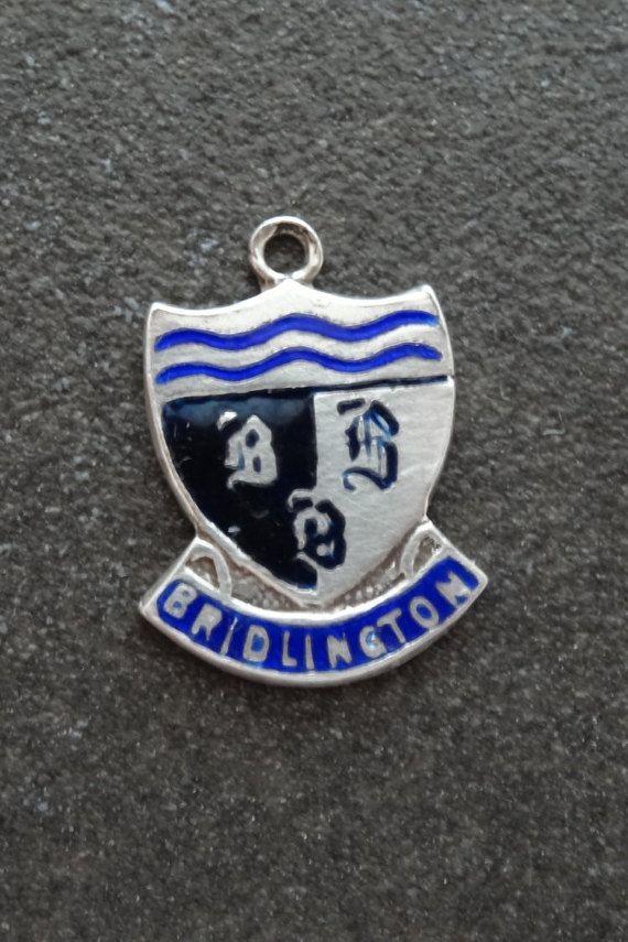 Enamel Shield Charm Bridlington Silver Travel Bracelet Charm