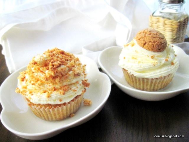 Amaretti cupcake