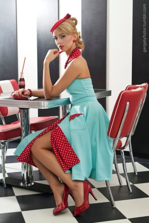 Vintage in Aqua and Red                                                                                                                                                                                 More