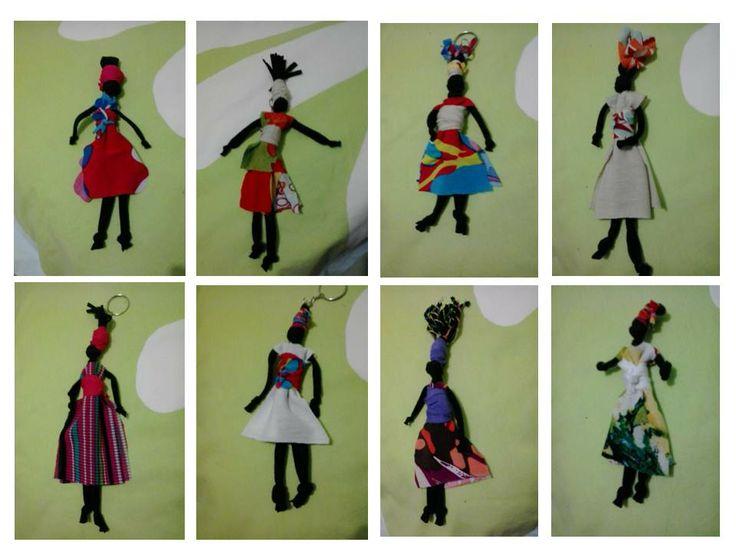 boneca africana abayomi... panos e nós