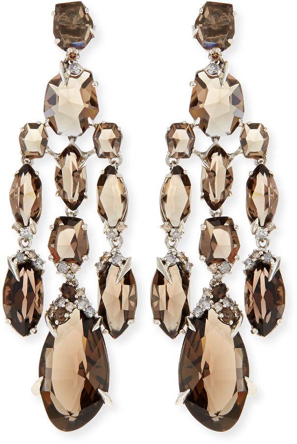 Alexis Bittar Fine Smoky Quartz & Diamond Chandelier Earrings on shopstyle.com