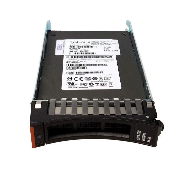 64GB IBM HS Enterprise Value SATA 2.5 SFF Hot-Swap Solid State Drive 49Y5839