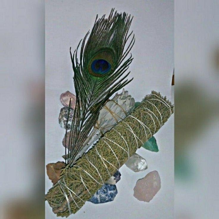 White Sage, Juniper Smudge w/Feather in 2020 Sage wands