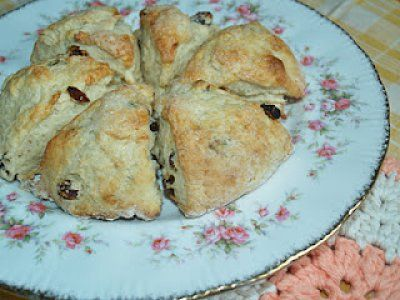 Cape Breton Scones: These delicious scones are based on a recipe from Edna Staebler's More Baking with Schmecks Appeal. They are wonderful when served warm with a little Earth Balance margarine and raspberry jam.